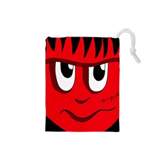 Halloween Frankenstein - red Drawstring Pouches (Small)