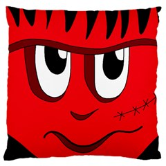 Halloween Frankenstein - red Large Flano Cushion Case (Two Sides)
