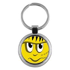 Halloween Frankenstein - yellow Key Chains (Round)