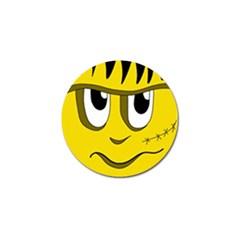Halloween Frankenstein - yellow Golf Ball Marker
