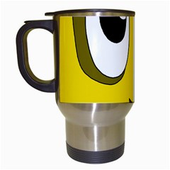 Halloween Frankenstein - yellow Travel Mugs (White)