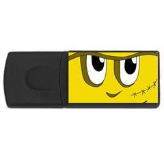 Halloween Frankenstein - yellow USB Flash Drive Rectangular (4 GB)