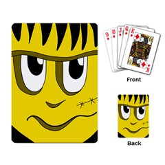 Halloween Frankenstein - yellow Playing Card