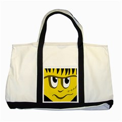 Halloween Frankenstein - yellow Two Tone Tote Bag