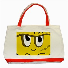 Halloween Frankenstein - yellow Classic Tote Bag (Red)