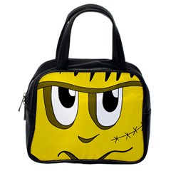 Halloween Frankenstein - yellow Classic Handbags (One Side)