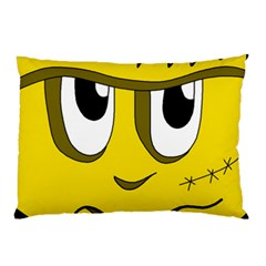 Halloween Frankenstein - yellow Pillow Case