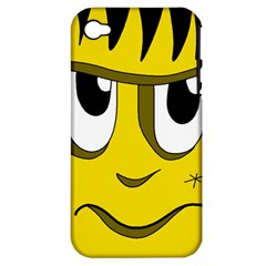 Halloween Frankenstein - yellow Apple iPhone 4/4S Hardshell Case (PC+Silicone)