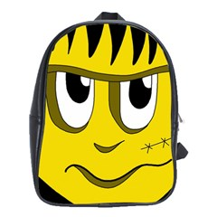 Halloween Frankenstein - yellow School Bags (XL)