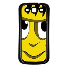 Halloween Frankenstein - yellow Samsung Galaxy S3 Back Case (Black)
