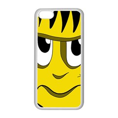 Halloween Frankenstein - yellow Apple iPhone 5C Seamless Case (White)