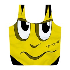 Halloween Frankenstein - yellow Full Print Recycle Bags (L)