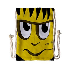 Halloween Frankenstein - yellow Drawstring Bag (Small)