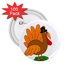 Thanksgiving turkey - transparent 2.25  Buttons (100 pack)