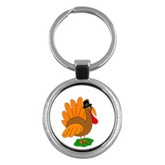 Thanksgiving turkey - transparent Key Chains (Round)