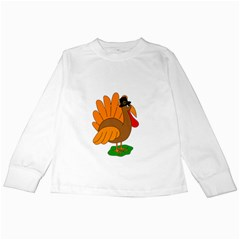 Thanksgiving turkey - transparent Kids Long Sleeve T-Shirts