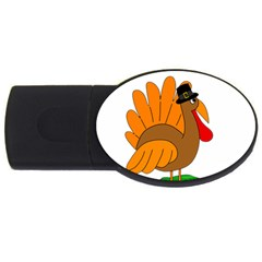 Thanksgiving turkey - transparent USB Flash Drive Oval (4 GB)