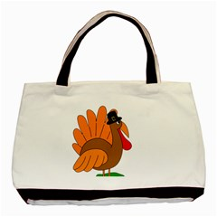 Thanksgiving turkey - transparent Basic Tote Bag (Two Sides)