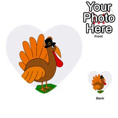 Thanksgiving turkey - transparent Multi-purpose Cards (Heart)