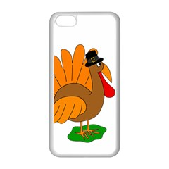 Thanksgiving turkey - transparent Apple iPhone 5C Seamless Case (White)