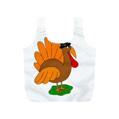 Thanksgiving turkey - transparent Full Print Recycle Bags (S)