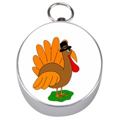 Thanksgiving turkey - transparent Silver Compasses