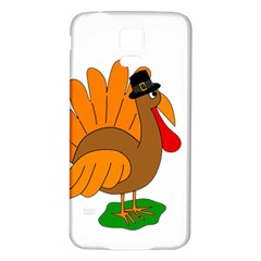 Thanksgiving turkey - transparent Samsung Galaxy S5 Back Case (White)
