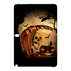 Halloween, Funny Pumpkin With Skull And Spider In The Night Samsung Galaxy Tab Pro 12.2 Hardshell Case