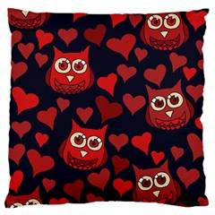 Owl You Need In Love Owls Large Cushion Case (Two Sides)