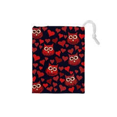 Owl You Need In Love Owls Drawstring Pouches (Small)