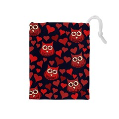 Owl You Need In Love Owls Drawstring Pouches (Medium)