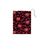 Owl You Need In Love Owls Drawstring Pouches (XS)  Front