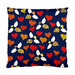 Honey Bees In Love Standard Cushion Case (two Sides)