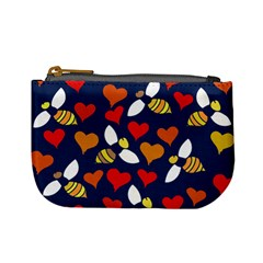 Honey Bees In Love Mini Coin Purses