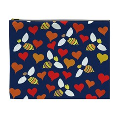Honey Bees In Love Cosmetic Bag (xl)