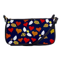 Honey Bees In Love Shoulder Clutch Bags