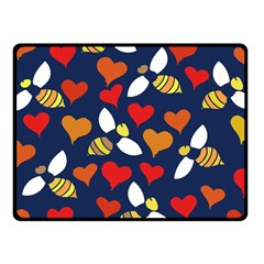 Honey Bees In Love Fleece Blanket (Small)