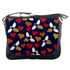 Honey Bees In Love Messenger Bags