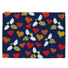 Honey Bees In Love Cosmetic Bag (XXL)