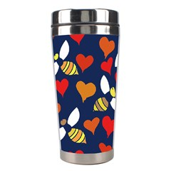 Honey Bees In Love Stainless Steel Travel Tumblers