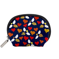 Honey Bees In Love Accessory Pouches (Small)