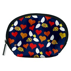 Honey Bees In Love Accessory Pouches (Medium)