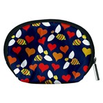Honey Bees In Love Accessory Pouches (Medium)  Back