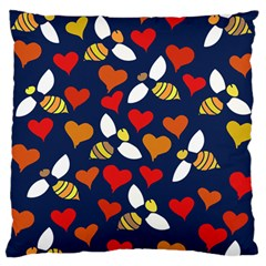 Honey Bees In Love Standard Flano Cushion Case (two Sides)