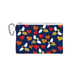Honey Bees In Love Canvas Cosmetic Bag (s)
