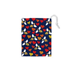 Honey Bees In Love Drawstring Pouches (XS)