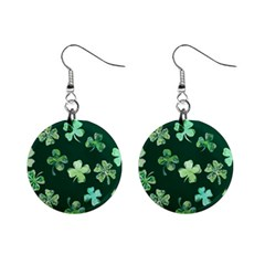 Lucky Shamrocks Mini Button Earrings