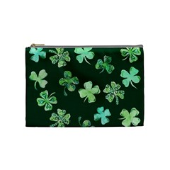 Lucky Shamrocks Cosmetic Bag (medium)