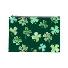 Lucky Shamrocks Cosmetic Bag (Large)
