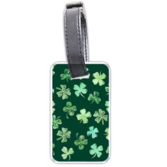 Lucky Shamrocks Luggage Tags (Two Sides)